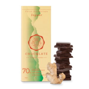 Schokolade Choqlate Ingwer Bio 70 Prozent Kakaoanteil
